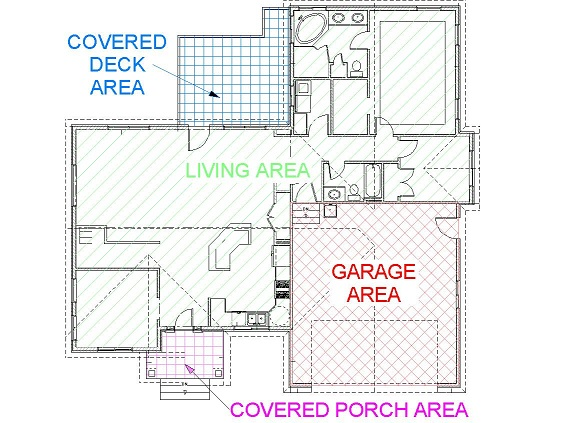 Area examples for Floor plan cost estimator